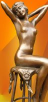 "SUPERB ART DECO, BRONZE, ""AWAKENING"" SIGNED D.H.Chiparus FIGURINE"